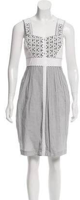 Zac Posen Pleated Sleeveless Dress