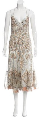 Elie Tahari Floral Printed Midi Dress $95 thestylecure.com