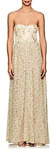 Brock Collection Women's Dallas Taffeta & Tulle Maxi Dress - Beige, Tan