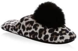 Minnie Rose Cashmere-Blend Fox Fur Pom Pom Slippers