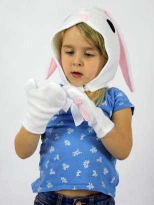 Bunny Felt Bonnet & Gloves Costume Set