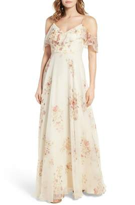 Jenny Yoo Collection Mila Cold Shoulder Gown