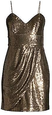 Parker Black Women's Guayana Metallic Mini Dress - Size 0