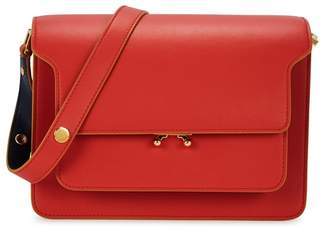 Marni Trunk Medium Red Leather Shoulder Bag