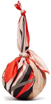 Marine Serre - Dream Silk Scarf Handle Ball Bag - Womens - White Multi