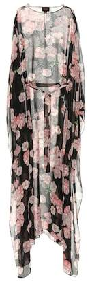Giambattista Valli Floral-print silk kaftan