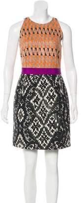 Giambattista Valli Patterned Woven Mini Dress