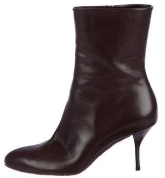 Gucci Leather Ankle Boots Brown Leather Ankle Boots