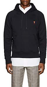 Ami Alexandre Mattiussi Men's Embroidered Cotton French Terry Hoodie-Navy