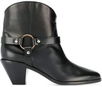Francesco Russo buckle detail boots