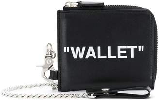 Off-White quote printed wallet
