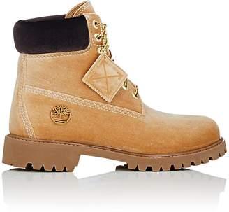 Off-White Men's 6-Inch Velveteen Boots