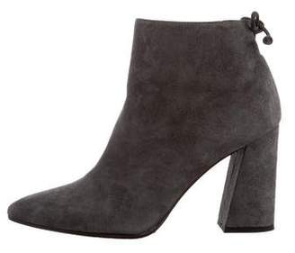 Stuart Weitzman Suede Pointed-Toe Ankle Boots