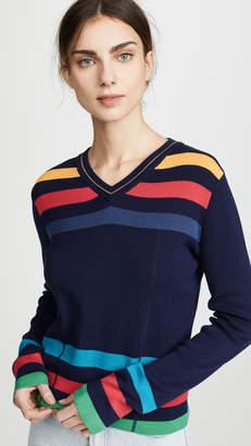 Paul Smith Vneck Stripe Sweater