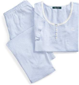 Ralph Lauren Striped Cotton Pajama Set