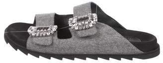 Roger Vivier Embellished Slide Sandals