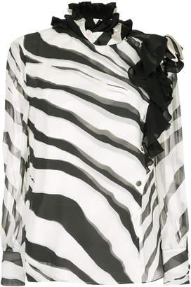 Lanvin zebra print blouse