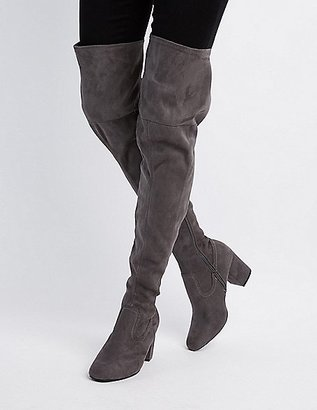 Square Toe Over-The-Knee Boots $48.99 thestylecure.com