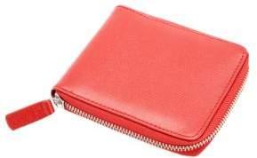 Royce Saffiano Leather Zip-Around Wallet