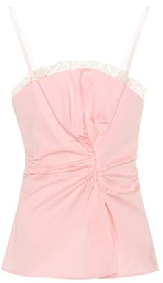 Jacquemus Le Haut Rose cotton camisole