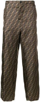 Fendi FF logo patterned trousers