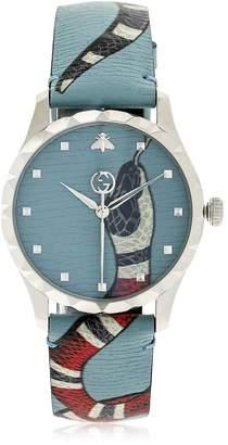 Gucci G-Timeless Snake Pattern Leather Watch