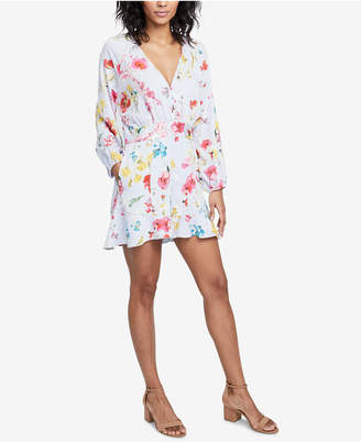 Rachel Roy Ruffled Floral-Print Romper, Created for Macy's