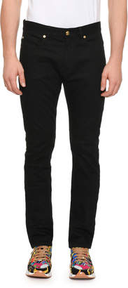 Versace Men's Denim Jeans w/ Barocco Pocket