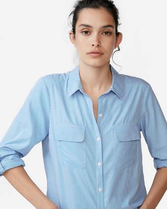 Express Stripe Full Button Up Shirt