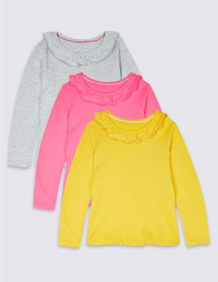 Marks and Spencer 3 Pack Tops with StayNEW (3 Months - 7 Years)