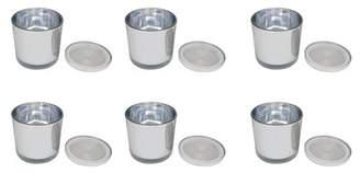 ROJO16 Silver Mercury Glass Vase - Set of 6