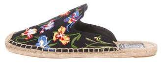 Tory Burch Embroidered Espadrille Mules