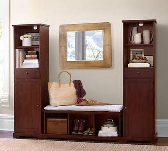 Pottery Barn Samantha 3-Piece Bench & Storage Tower Entryway Set, Mahogany