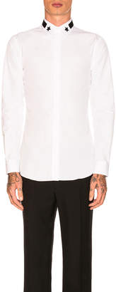 Givenchy Long Sleeve Embroidered Shirt