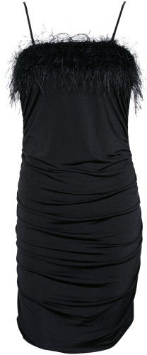 Ruched Feather Dress