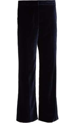 Stella McCartney Kick-flare cropped velvet trousers