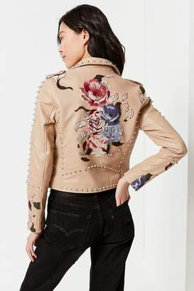 Blank NYC BLANKNYC Natural Romance Studded Moto Jacket