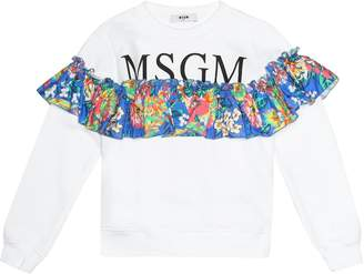 MSGM Kids Printed cotton sweatshirt
