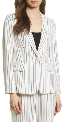 Frame Stripe Blazer