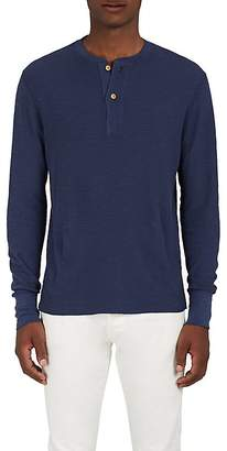 Barneys New York Men's Cotton Thermal-Knit Henley