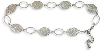 Fashion Focus Textured Oval and Filigree Chain Belt