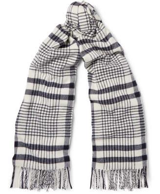 Acne Studios Canada Checked Virgin Wool Scarf