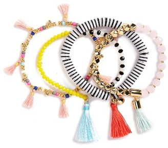 Women's Baublebar Quinn Set Of 4 Bracelets $48 thestylecure.com