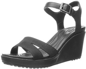 crocs Women's Leigh II Ankle Strap W Wedge Sandal $54.99 thestylecure.com