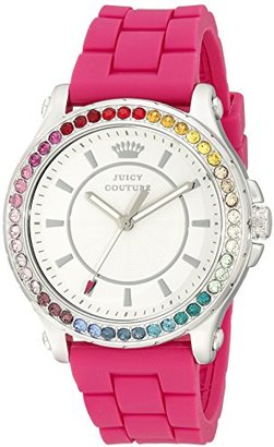 Juicy Couture Women's 1901277 Pedigree Stainless Steel Watch with Pink Silicone Band $57.51 thestylecure.com