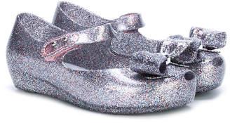 Mini Melissa glitter ballerina shoes