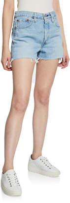 Levi's Premium 501 High-Rise Cutoff Denim Shorts