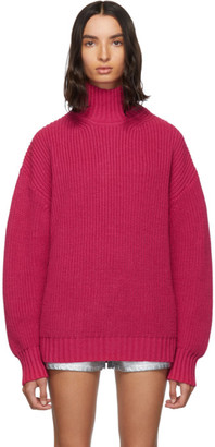 MSGM Pink Oversized Turtleneck