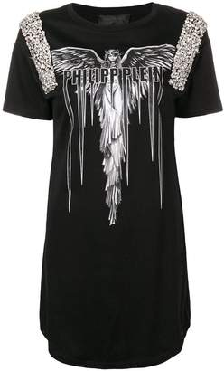 Philipp Plein Angel T-shirt dress