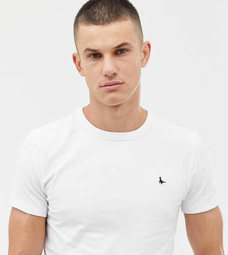 Jack Wills Landrier Muscle Fit T-Shirt in White